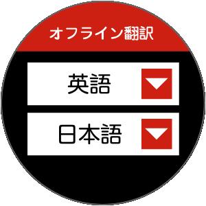 Langie 双方向 オフライン翻訳画面