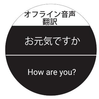 オフライン翻訳 翻訳結果